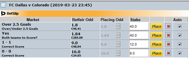 betfair bets and odds