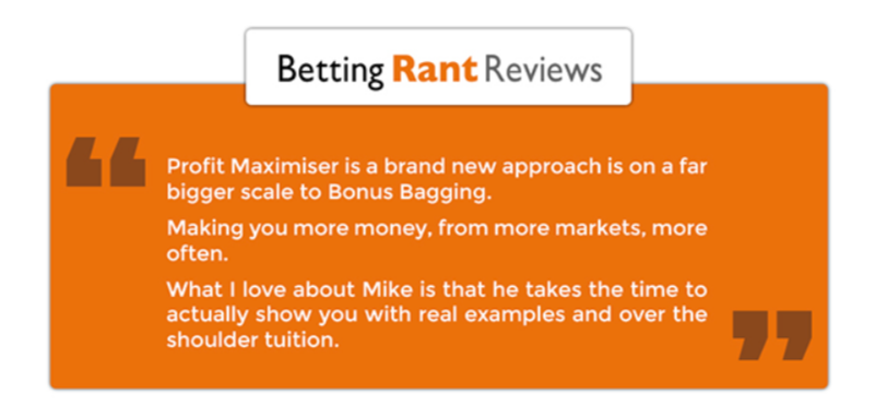 profit maximiser review betting rant