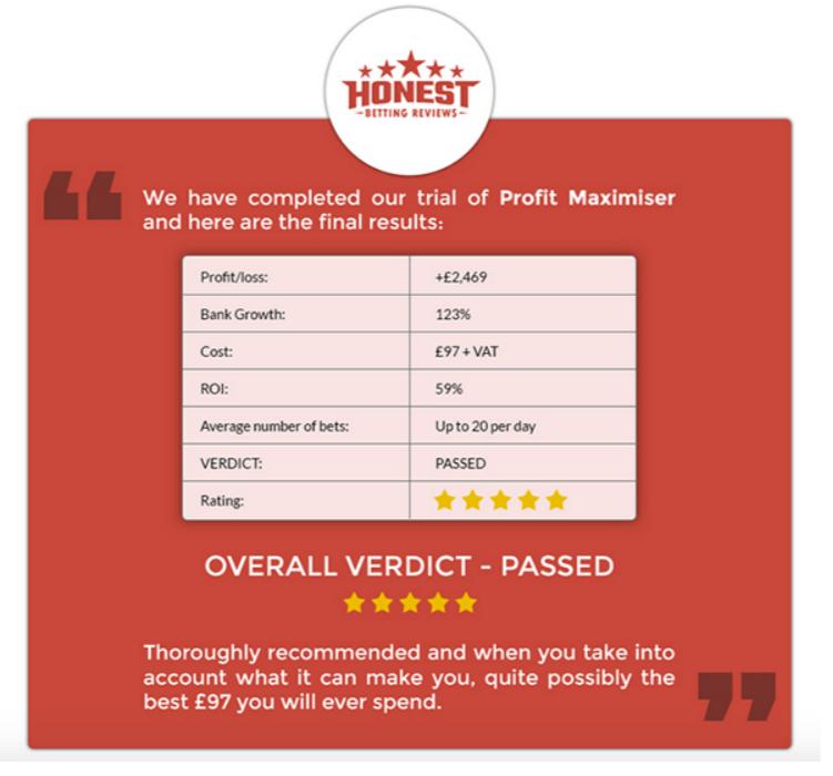 profit maximiser review honest betting