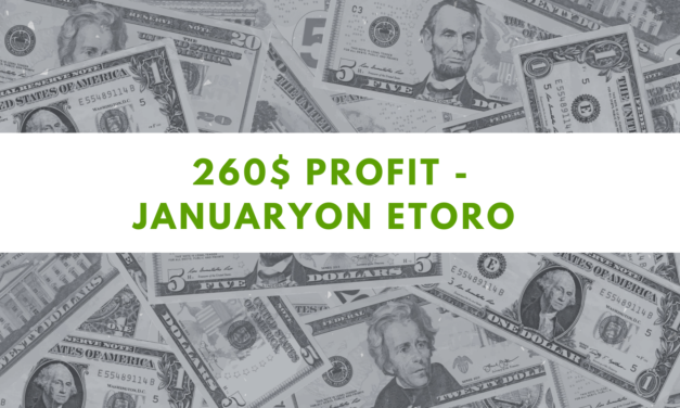 eToro one Million challenge – 260$ profit on January 2021