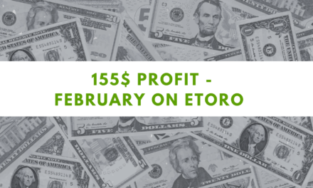 eToro one Million challenge – 155$ profit on February 2021