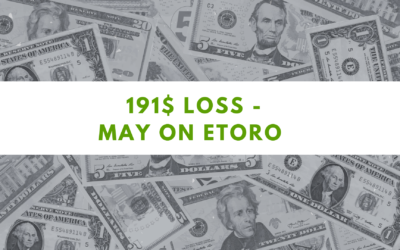 eToro one Million challenge – 191.16$ loss on May 2021