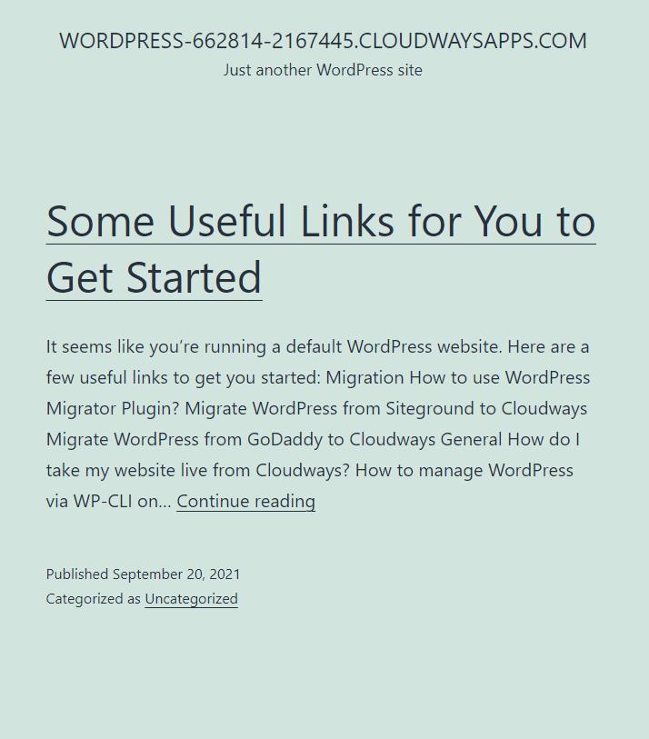 cloudways wordpress website